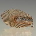 Broche en or et diamants 1960
