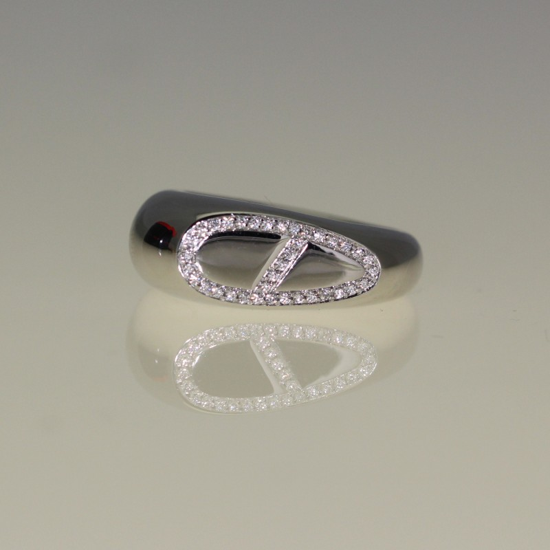 Bague Hermes diamants