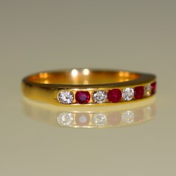 Alliance rubis et diamants