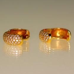 Boucles d'oreilles créoles or et diamants