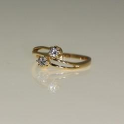 Bague toi et moi diamants.