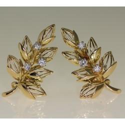 Boucles d'oreilles diamants 1905