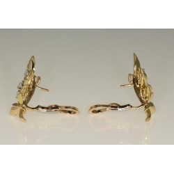 Boucles d'oreilles diamants 1905