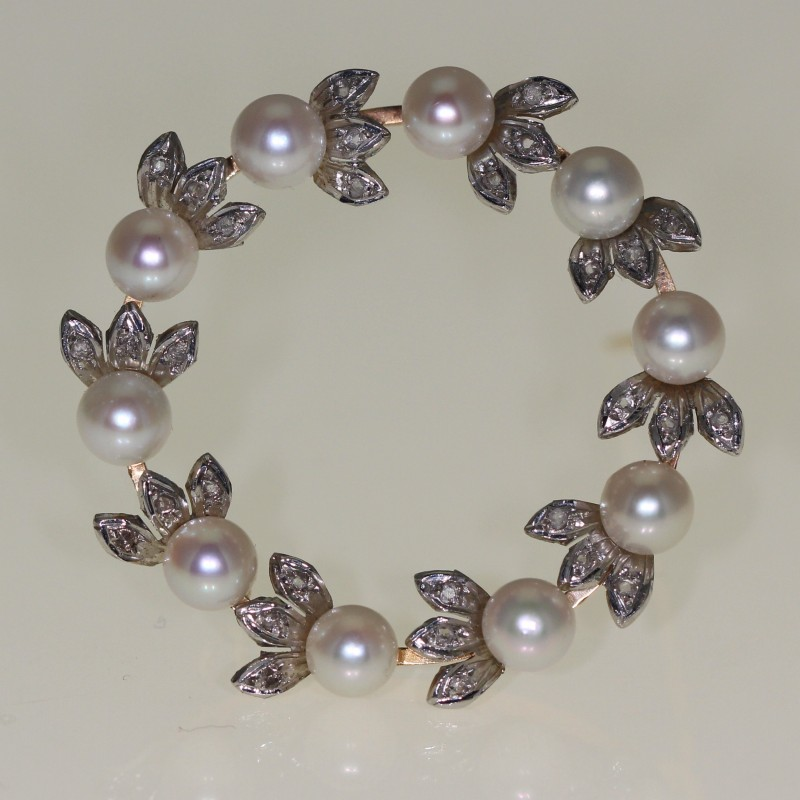 Brhe en perles et diamants 1960