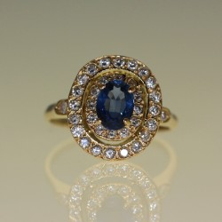 Bague saphiet diamants