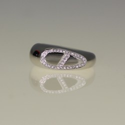 Bague Hermes diamants